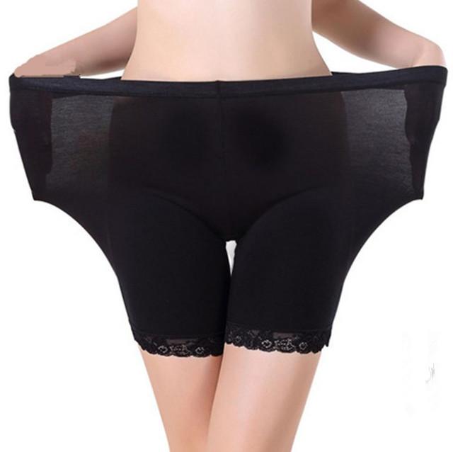 Puls size Women Lace Safety Short Pants