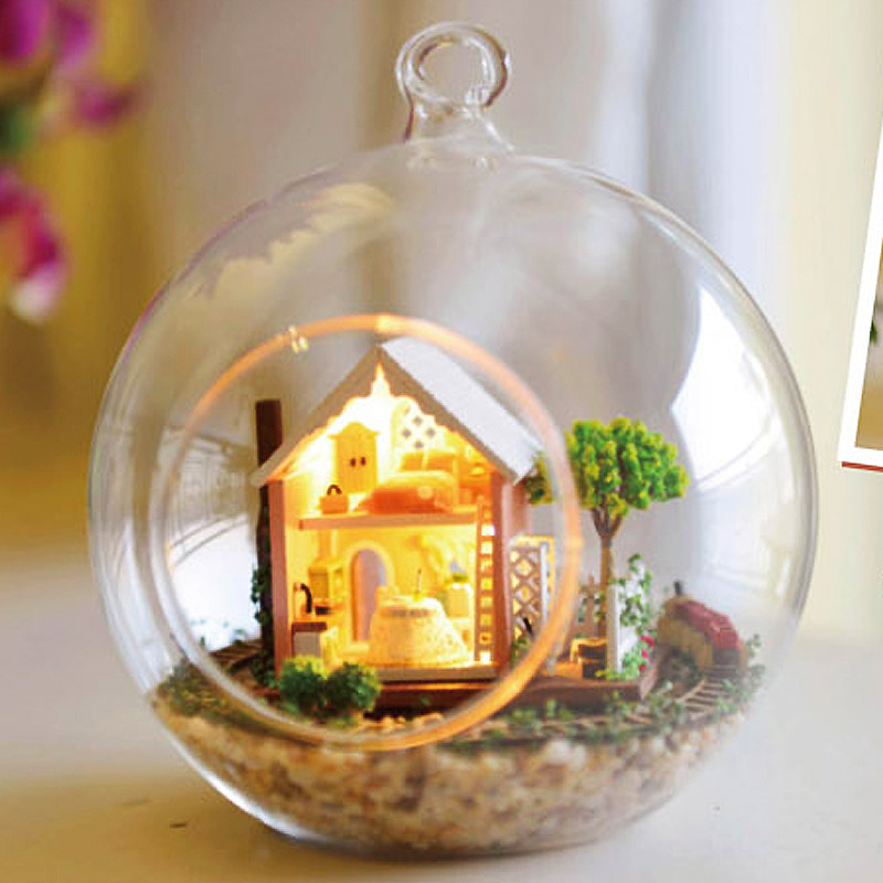 The Cheapest Price Hot Diy Glassball Birthday/valentine/christmas Gifts Miniature Furnitures Model Kits 3d Assemble Toys Creative Diary Dollhouse Toys & Hobbies Architecture/diy House/mininatures