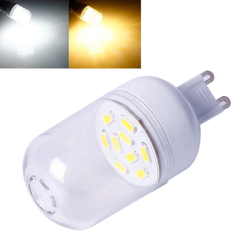 10 шт. 3 Вт G9 светодиодные огни кукурузы T 9SMD 5730 1200 LM Кукуруза, прожектор, лампа светодиодная LED лампа лампы 360 градусов AC 220-240 В ...