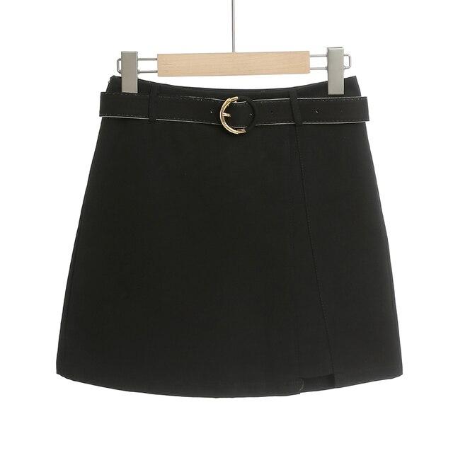 MingJieBiHuo A word package hip skirt spring and summer new Korean fashion ladies was thin irregular slit women girls skirt 2