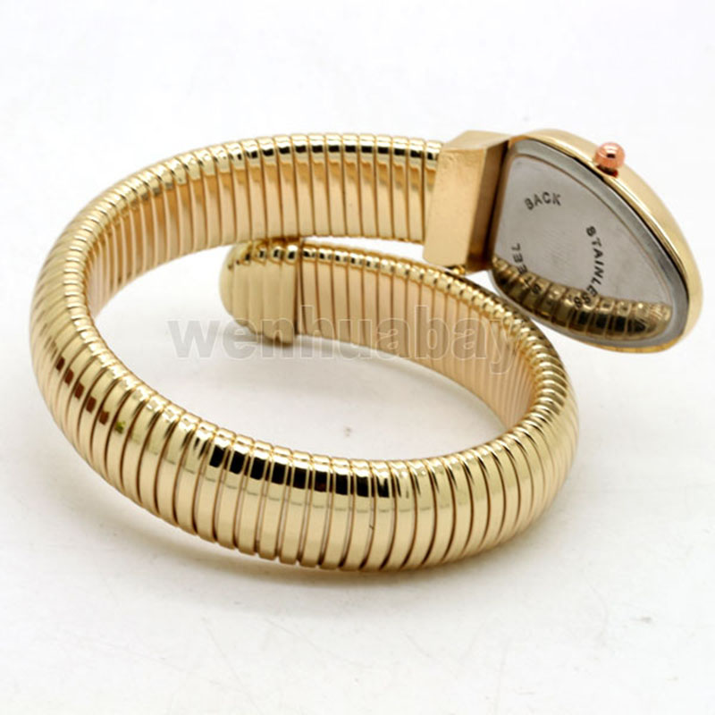 Vintage Snake Shaped armband Kvinnor titta på Design Bangle Quartz - Damklockor - Foto 5