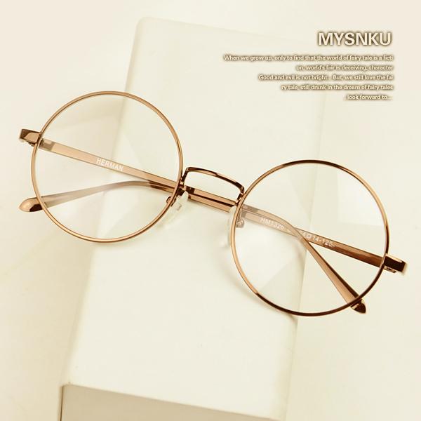 Novo Quadro Óculos de Miopia Simples Espelho Redondo Pequeno Quadro Das Mulheres Dos Homens de Moda Óculos oculos de grau