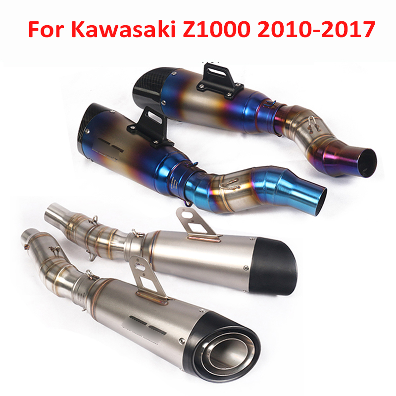 Z1000 Moto Plein D'échappement Pointe Du Système Silencieux Silencieux Tuyau Lien Connecter Tuyau Tube pour Kawasaki Z1000SX 2010-2017