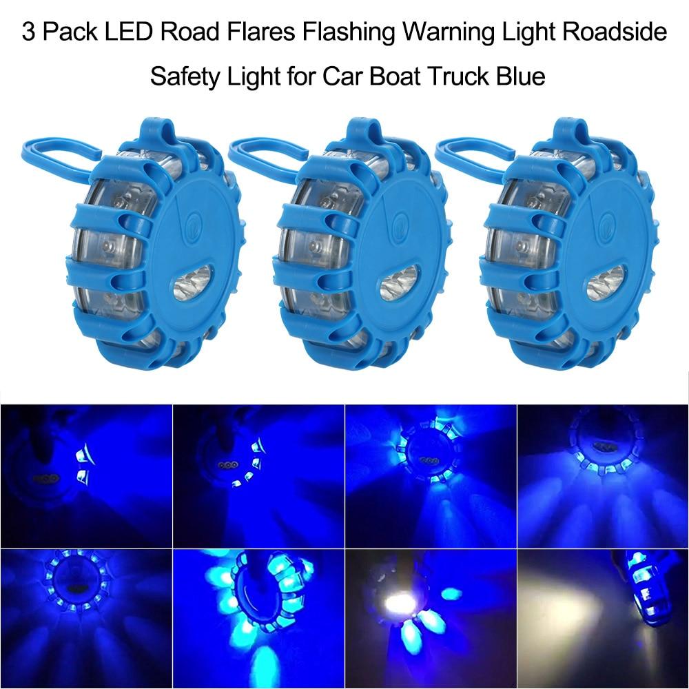 Led Road Flares Flashing Warning Light Roadside Emergency