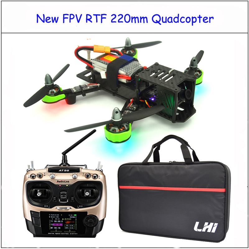rtf RC plane with AT9S radiolink 2.4G Remote Control QAV ZMR 220mm drone with camera quadcopter