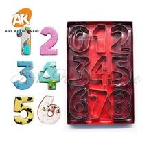 9pcs/set Big Number Cutter Set for Cookie Set,Baking Fondant Cutter,Biscuit Cutter, Cake Letters