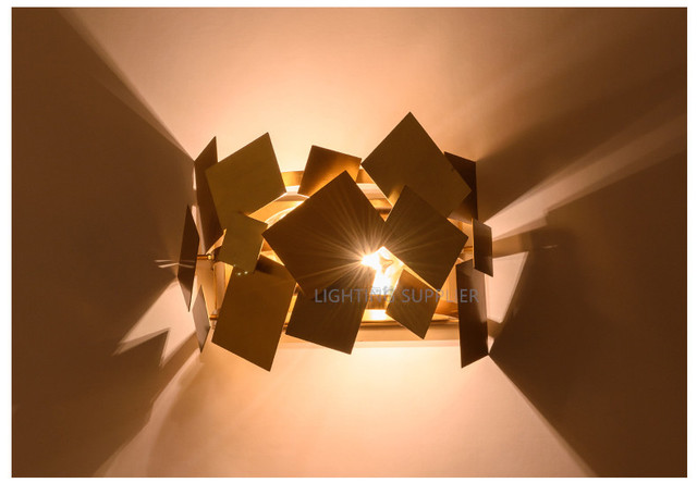 Wandleuchte Schwarz Gold ~ Beliebte italien design edelstahl gold moderne led