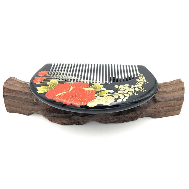Half Moon Portable Sessile Hair Brushes Natural Boxwood Comb  Massage Escova De Cabelo L-217