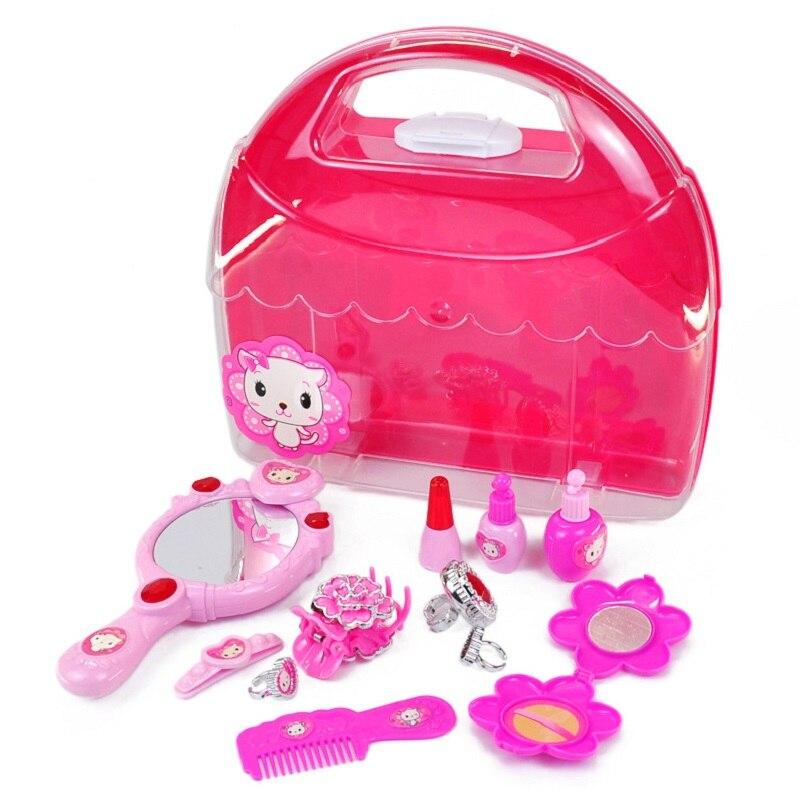 Lovely Girls Beauty Hair Toy Girls Little Cosmetics Kit Pretend Play Makeup Set Preschoo ...