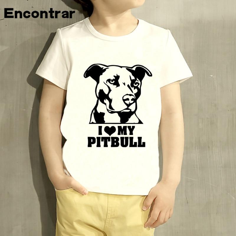 KidsI Iike My Pitbull Dog Design Baby Boys/Girl TShirt Kids Funny Short Sleeve Tops Children Cute T-Shirt,HKP804