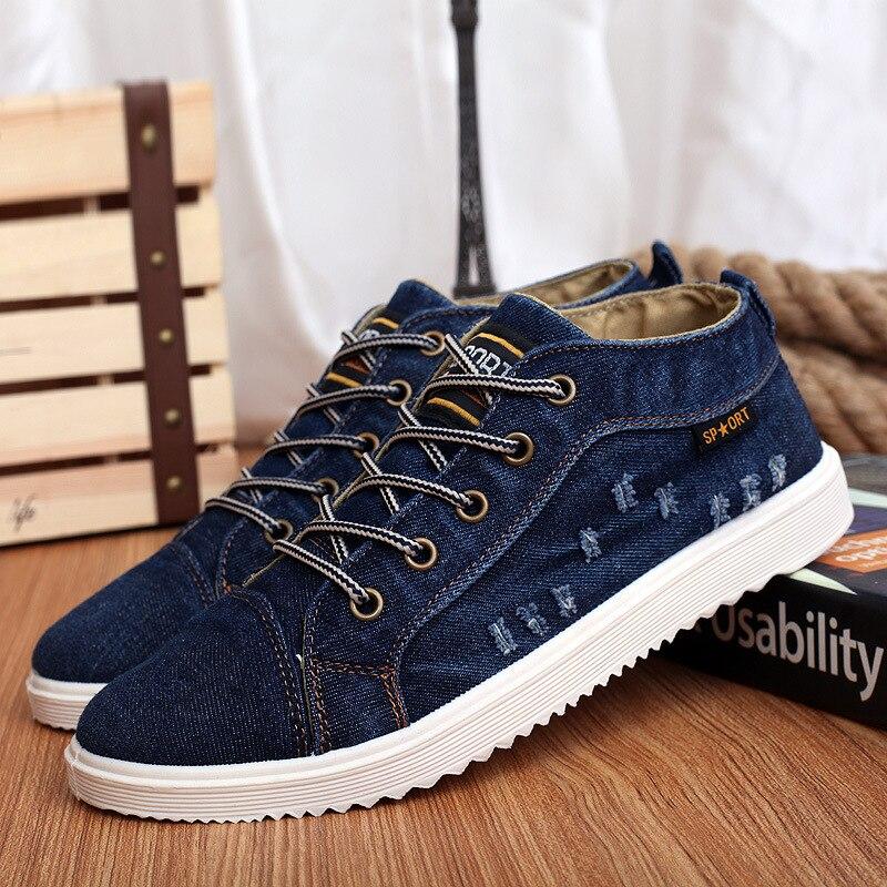 Chaussures Noir Top Zapatillas up Ciel Denim Espadrilles Casual Marine Lace bleu Sneakers Mode Toile High Northmarch Hombre pu Homme Hommes fx8nqSZwp