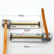 1 шт. мини микро постоянного тока 5-6V 15 мм 2-фазный шаговый двигатель 4-проводной с объективом 55 мм с длинной осью