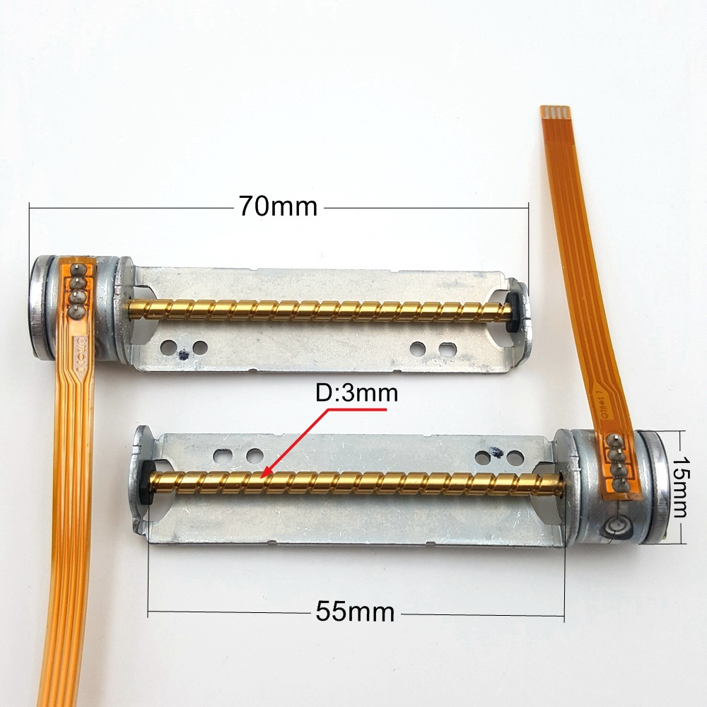 1PC New Mini Micro DC 5-6V 15mm 2-phase 4-wire Stepper Motor With 55mm Long Axis