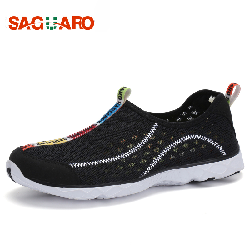 SAGUARO New Casual Shoes Men 2018 Summer Breathable Mesh Flats Shoes for Unisex Soft Lightweight Male Beach Shoes zapatos hombre