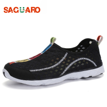 SAGUARO New Men Women Kasual Kasual 2016 Spring Autumn Aquasuits Beach Shoes bernafas Mesh kalis air Pantas Pengeringan Kasut Berjalan