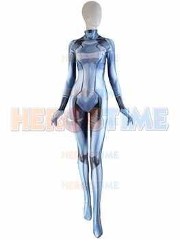 The Newest Silver Samus Aran Costume Metroid Samus Zero Game Catsuit 3D Printed Bodysuit Zentai Suit Custom Made Suit - DISCOUNT ITEM  10 OFF Novelty & Special Use