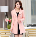 2017 New Spring Fashion/Casual Women's Trench Coat Elegent Trench Coat For Women Long Slim Double Breasted Coats