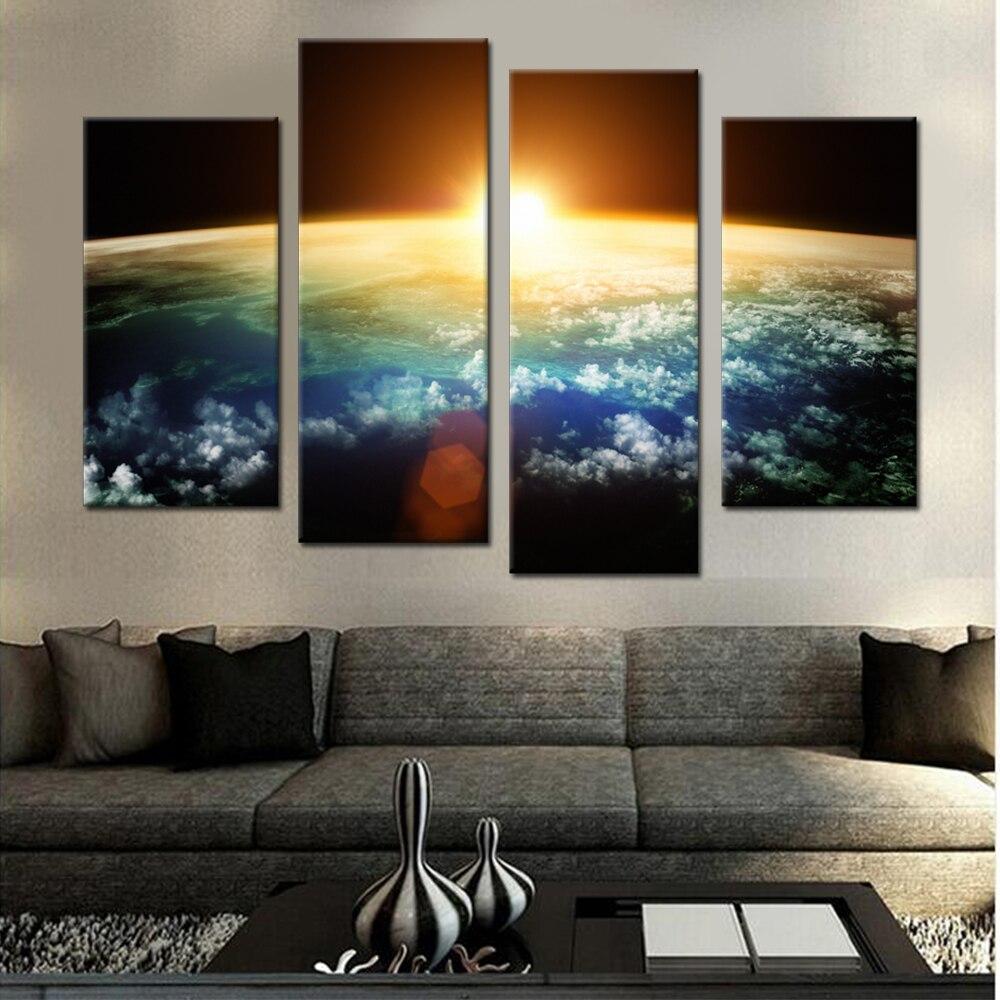 Sonnenuntergang Von Weltraum Leinwand Set Leinwand Bilder für ...