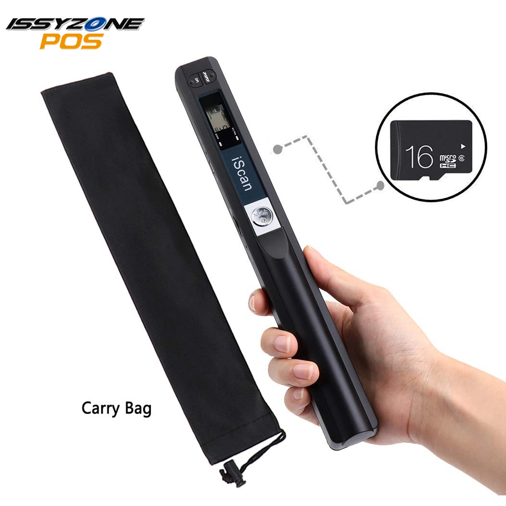 Portable Handheld Document Scanner with 16GB MicroSD Card Mini Pen Scanner Document Image A4 Size 900DPI