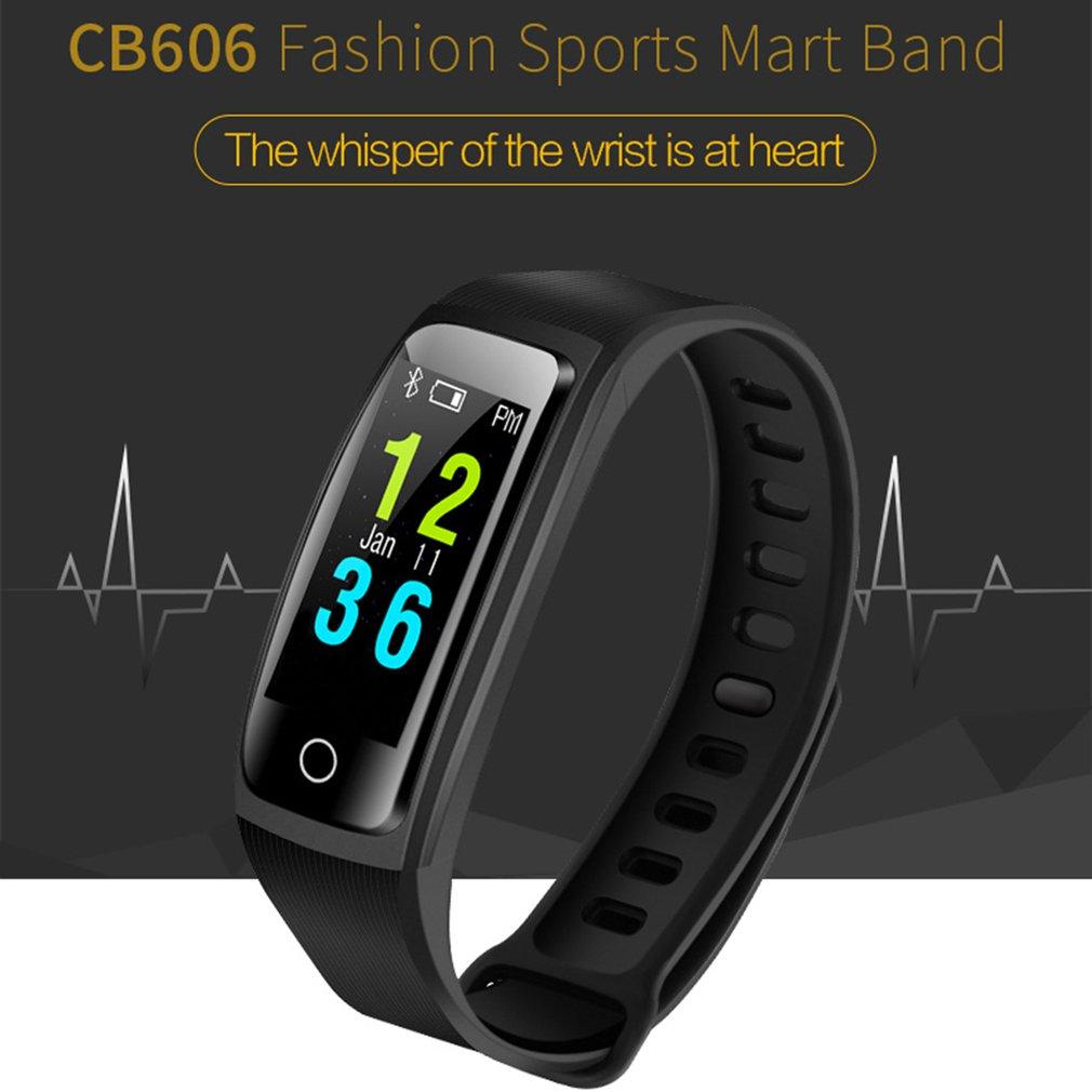 CB606 multi-sports smart watch women bracelet black Heart rate detection Blood pressure monitoring