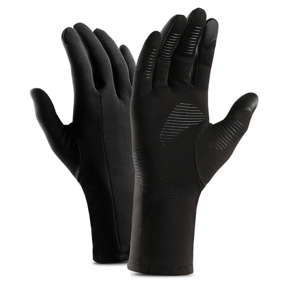 Winter Outdoor Sport Gloves Waterproof Full Fingers Silicone Anti Skid Bike Glove Winter Thermal Warm Cycling Ski Gloves #SW