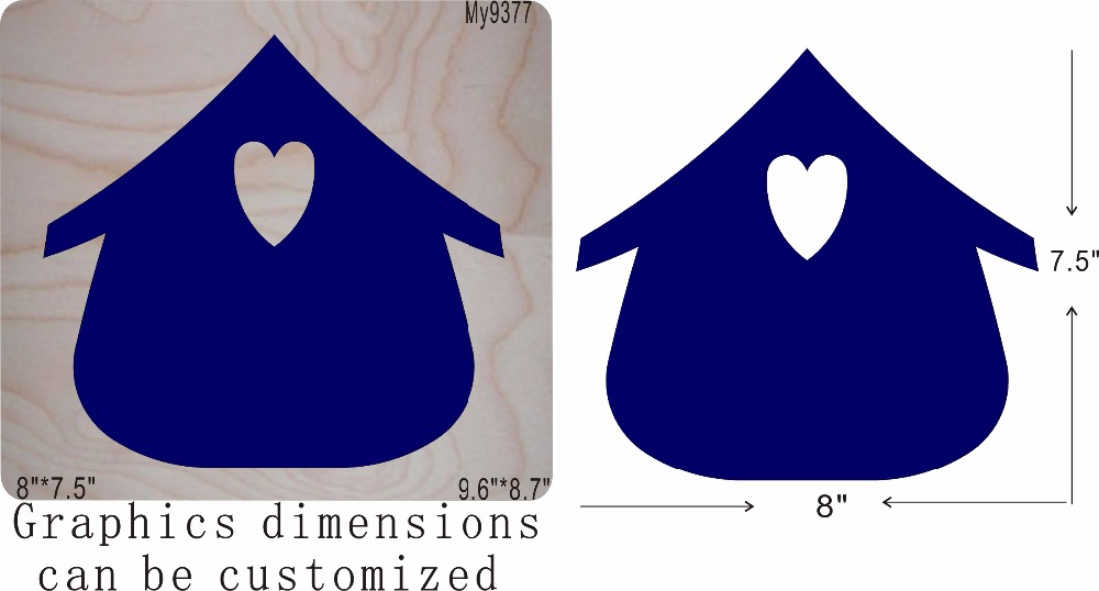 House and heart wooden mold die cut accessories wooden die Regola Acciaio Die Misura MY