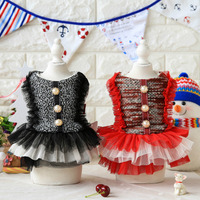 Beading Lace Dog Dress Thick Coats Jackets Clothing For Dogs Puppy Dog Cat Pet Clothes Apparel