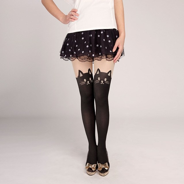 Fashion Stockings Women Tights Cotton Silk Stockings Pantyhose Cat Rabbit Girl Sexy Slim Cats Lovely Female Tight