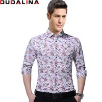 Dudalina High Quality Brand Clothing Male Shirt Long Sleeve Shirt 2017 100 Cotton Slim Fit Shirt