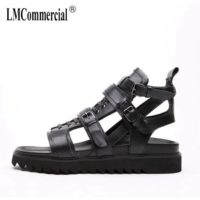 summer sandals Sneakers Men Slippers Flip Flops Summer Shoes Male sandals new men Genuine Leather leather