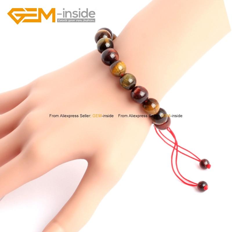 Yellow Tiger Eye Beads Bracelets Elastic Rope Fashion Jewelry For Women Adjustable 7.5inch FreeShipping Wholesale Gem-inside