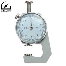 Толщиномер металлический белый тестер измерительный инструмент для кожевенного ремесла 0-10 мм плоская бумага длина ткани 78 мм Ювелирные изделия измерительные инструменты
