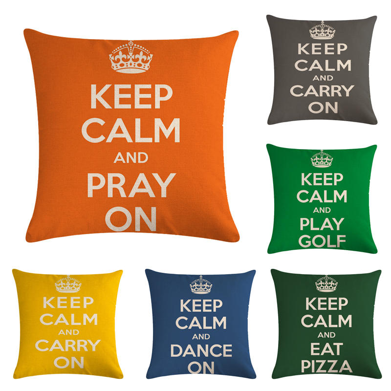 45cm 45cm Design Of Keep Clam Pattern Linen Cotton Throw Pillow Covers Couch Cushion Cover Home Decorative Pillows Cushion Cover Aliexpress