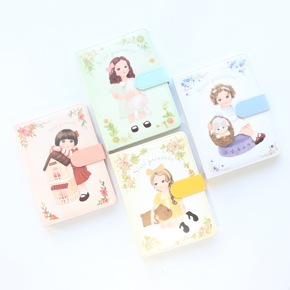 Domikee cute cartoon princess series school student leather monthly weekly planner notebooks stationery,kawaii kid diary gift,A6 цена