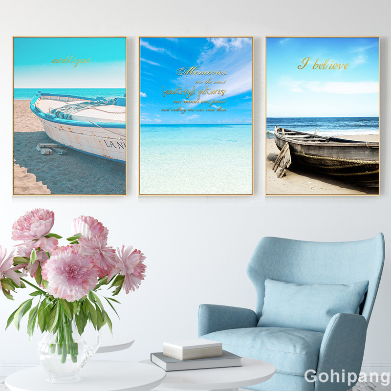 Seaside-Home-Decor-Seascape-Wall-Art-Print-Nordic-Canvas-Painting-Bedroom-Living-Room-Picture-Landscape-Boat (1)