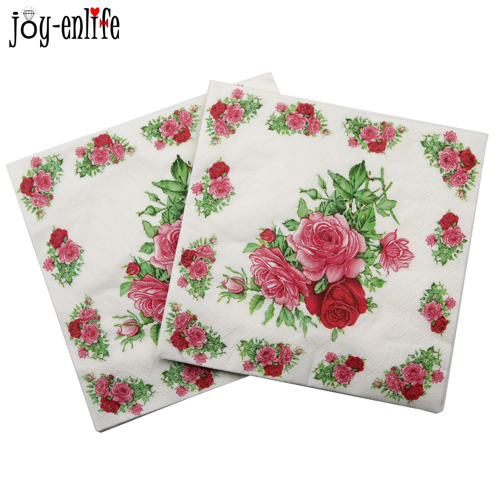 Rose Flower Paper Napkins