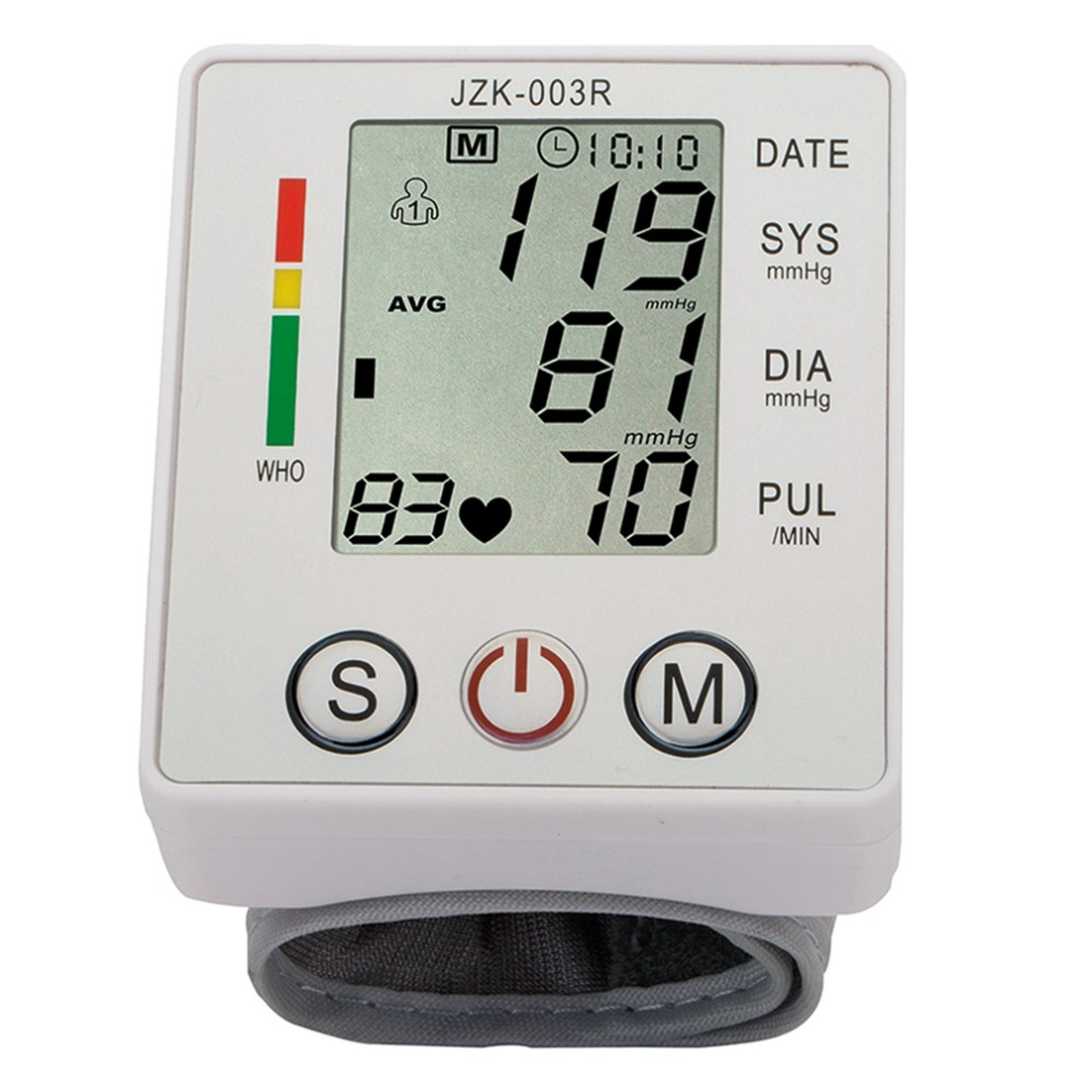 Household Health Care Wrist Blood Pressure Monitor Digital LCD Heart Beat Rate Pulse Meter Automatic Sphygmomanometers tonometer 9