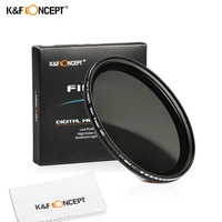 46mm Slim Fader Variable ND2 To ND400 Neutral Density Adjustable ND Lens Filter For Canon Nikon