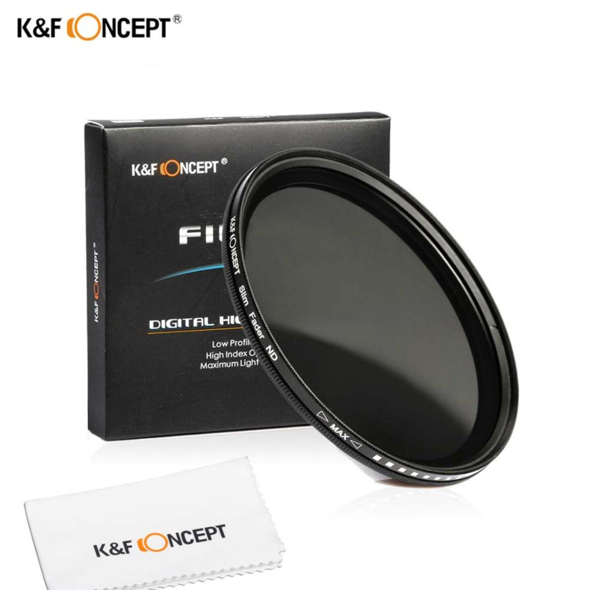 46mm Slim Fader Variable ND2 à ND400 Densité Neutre Réglable ND Lentille Filtre Pour Canon Nikon Sony Olympus