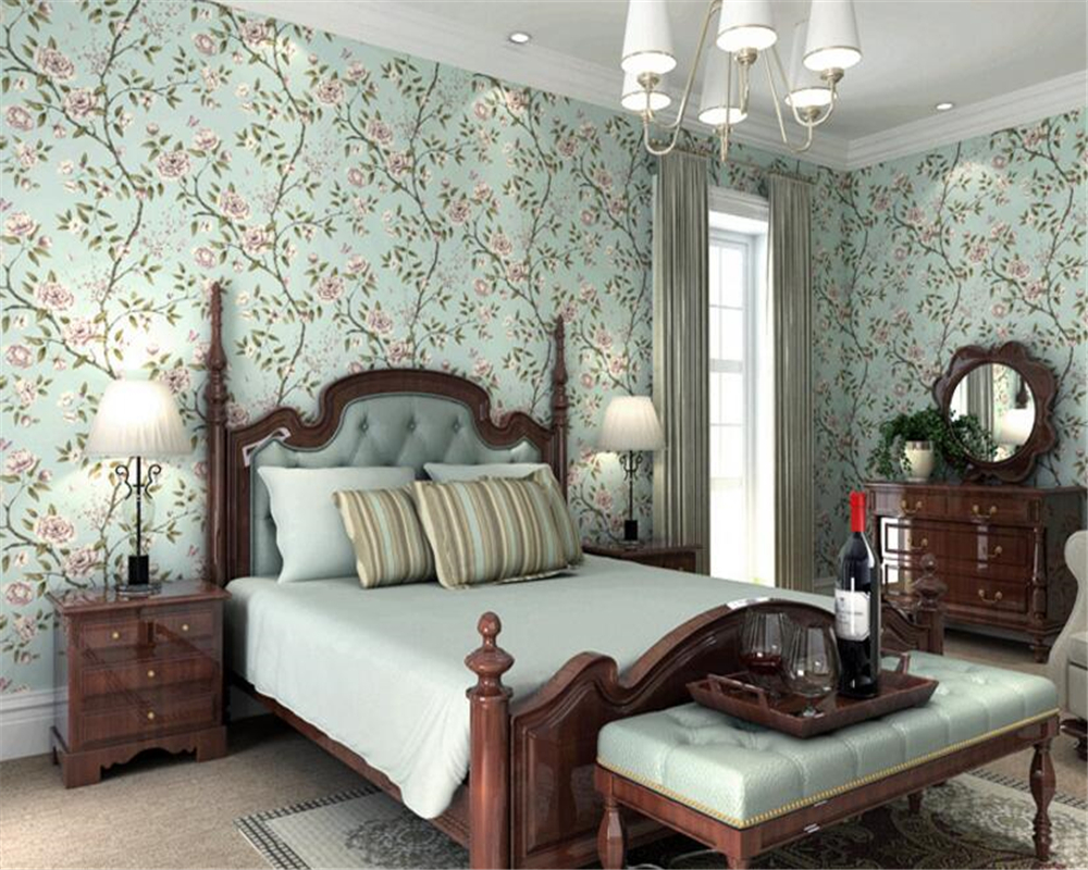 beibehang Stereo Nonwoven 3d Wallpaper Vintage American Village Pastoral Warm Living Room Bedroom Background Wall paper tapety beibehang stereo 3d nonwoven fabric wallpaper warm bedroom living room full of european style pastoral flowers wallpaper behang