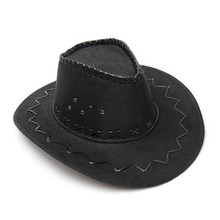 Cowboy Hat Suede Look Wild West Fancy Dress Men Ladies Cowgirl Unisex Hat