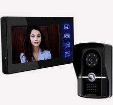 Freeshipping 7 pulgadas IR kit de Cámara de Visión Nocturna Video de La Puerta Sistema de Intercomunicación Videoportero Intercom timbre inteligente Versión de La Noche