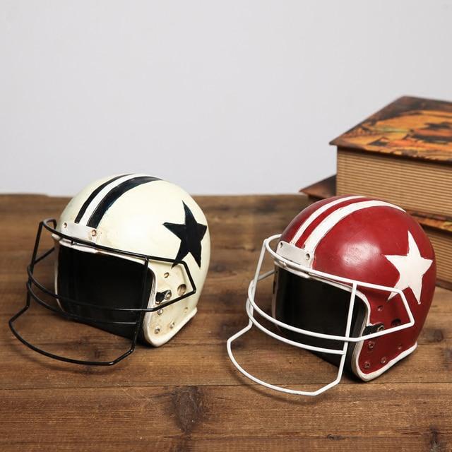 987ab0d18 Retro cap futebol Americano Criativo artigos de decoração Foto Adereços  capacetes Modelo mobiliário decoração Janelas
