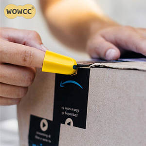 WOWCC Tool Finger Cutter Utility knife Safety Home Durable Silicone Office Package Letter Parcel Opener Carton Quick