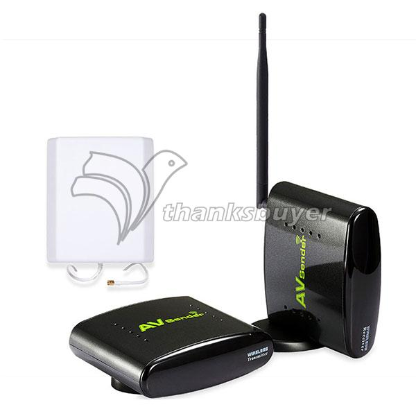 PAT-370 With EU Adapter 2.4GHz Wireless 500m AV Sender TV Audio Video Transmitter Receiver