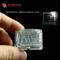 Alconstar Motorcycle Luminous Vehincal Clock Motorbike ATV Electric Car Bicycle Watch For Honda For Yamaha With