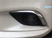 High quality!Chrome Front Fog Light Lamp Cover Trims For Mazda 6 Atenza sedan 2013 2014