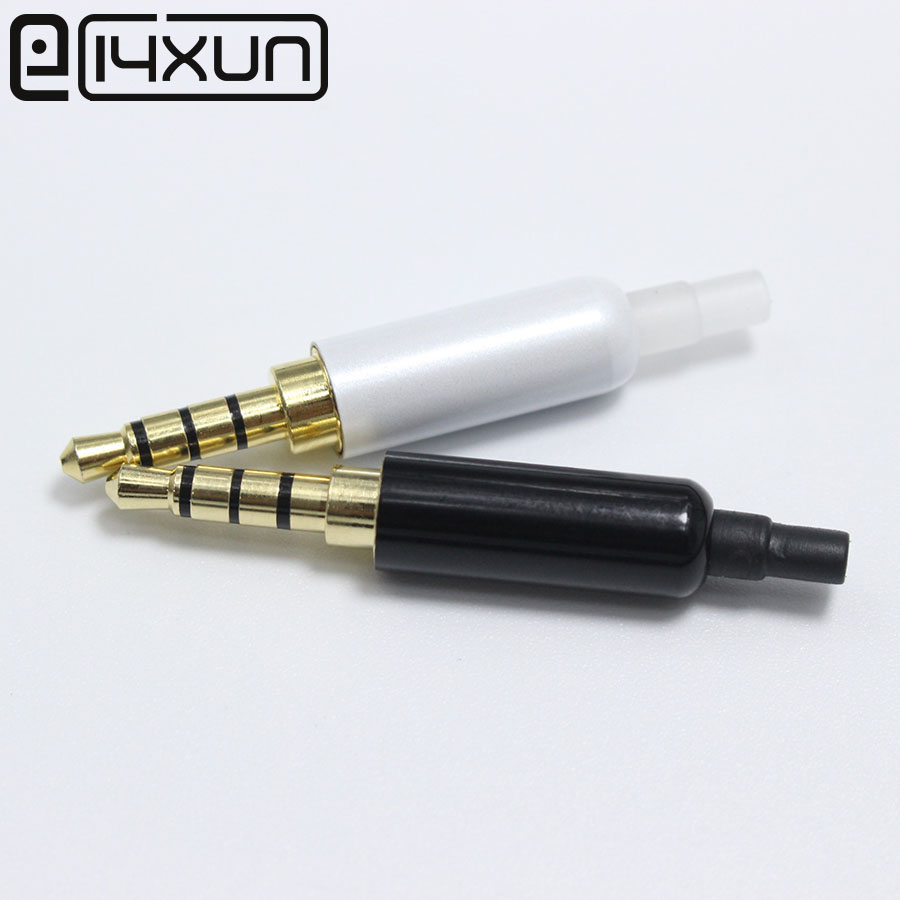 2pcs 3.5 Mm Plug Audio Jack 4 Pole Gold Plated Earphone Adapter With Tail For DIY Stereo Headset Earphone For Repair Earphone