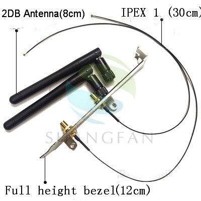 SMA WIFI Antenna IPEX1 / IPEX4 To SMA Wireless Network Card 2DB/8DB Antenna Full Height / Half Height Bezel