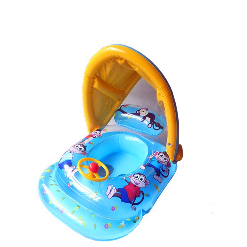iEndyCn Baby Seat Float Shade Cartoon Swimming Ring Swimming Pool Accessories GXY134